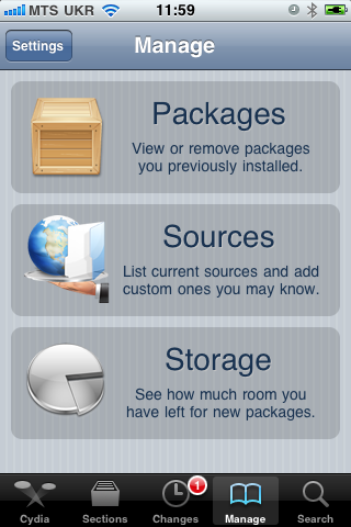 manage sources cydia